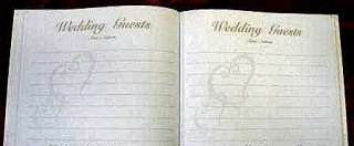 Wedding Bridal Guest Book Album with DOUBLE HEARTS ~ GOLD