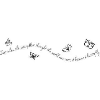 the caterpillar thought wall decal sticker quote word. From $10.95