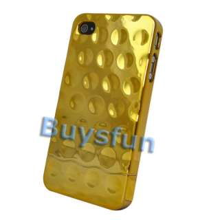 GOLD CHROME Metallic HARD CASE COVER For iphone 4 4G