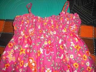 GAP KIDS pink flower WOODSTOCK tunic tank dress~Sz 4/5