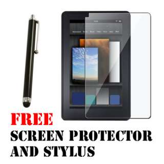 Kindle Fire 360 Degree Rotating Leather Case Cover Choose from
