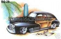 BG29 T Shirt Hot Rod 47 48 Chevy Fleetline Woodie 2 Dr