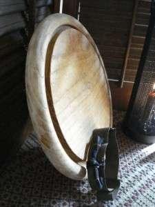 Farmhouse Kitchen Round Wood Breadboard Cutting Board Chopping