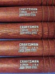 of 12 Craftsman High Speed Steel, Wood Lathe Turning Tools Chisels Set