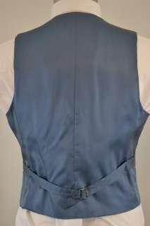 Wool Navy Blue Seersucker 2 pc Sport Coat Blazer & Vest 38S