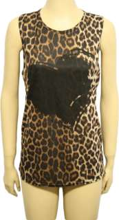 Ladies Animal Print Sleeveless Tiger Heart Vest Womens Leopard Muscle