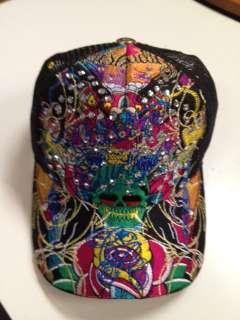 Skull design Christian Audigier Los Angeles Adjustable tabs