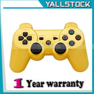 Hot Wireless Bluetooth Controller for Sony PS3 Yellow