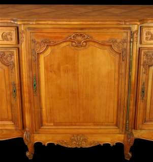 ANTIQUE FRENCH COUNTRY BOMBE LOUIS XV SERVER SIDEBOARD