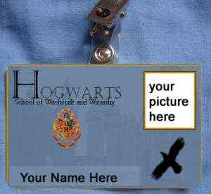 Harry Potter Hogwarts ID Card Ravenclaw School Witch