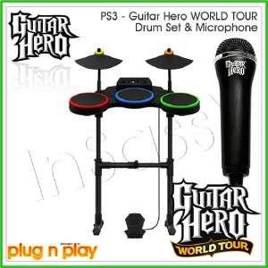 NEW PS3/PS2 Guitar Hero World Tour Wireless DRUM & MIC
