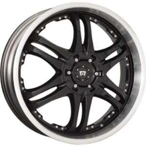 Motegi DP12 17x7 Black Wheel / Rim 5x100 & 5x4.5 with a 42mm Offset