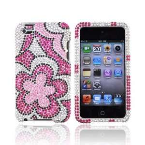 For Apple iPod Touch 4 Bling Case Cover PINK Flowers Electronics