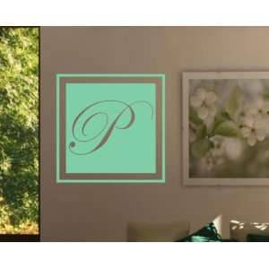 Letter P Monogram Letters Vinyl Wall Decal Sticker Mural Quotes Words