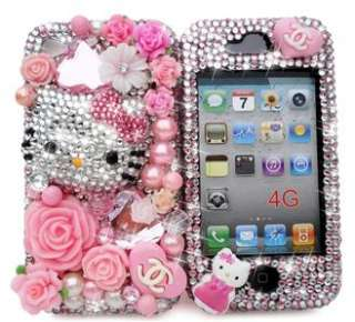 FANTASY HELLO KITTY CRYSTAL CASE COVER SKIN 4 IPHONE 4G 4S ^^