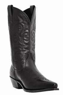 LAREDO 11 WESTERN COWBOY BLACK SNIP TOE BOOTS 8 Medium 5760