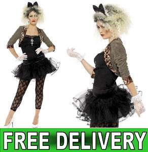 Wild Child Madonna Style 80s Fancy Dress Costume 12 14