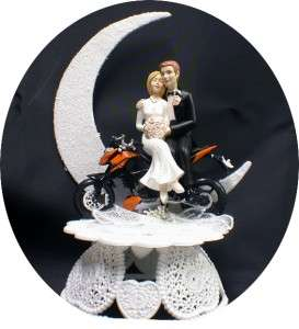 Field off road Dirt Bike Motorcycle wedding Cake topper Groom Top SEXY