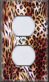 Light Switch Plate Cover   Animal Print Decor   Wild Animal Prints