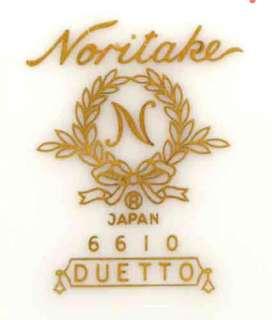 Noritake Duetto pattern (6610) White Dinner Plate