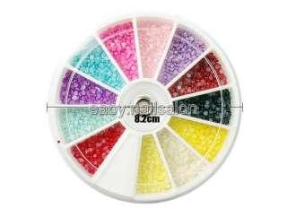 Wheel Nail Art Glitters Rhinestone+2 Tool+Nail Glue for Decoration