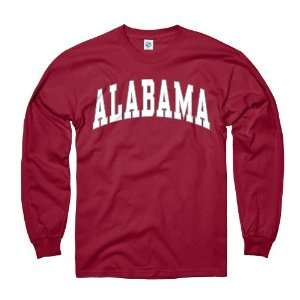 Alabama Crimson Tide Adult Long Sleeve Classic Arch T