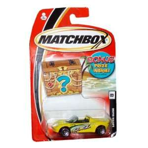 Scale Die Cast Metal Car # 8   Yellow Exotic Sport Convertible Coupe
