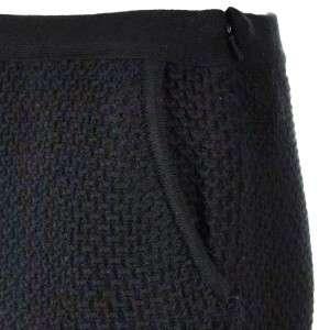 Sutton Studio Womens Wool Black Waffle Pencil Skirt M