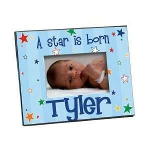Personalized New Baby Boy Picture Frame A Star is Born: Home & Kitchen