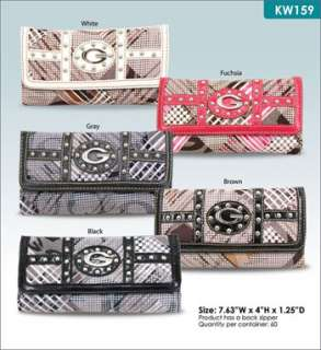 60 LOT WHOLESALE DESIGNER INSPIRED FASHION WALLET CLUTCH TRIFOLD