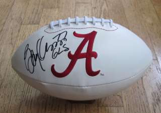 BARRY KRAUSS SIGNED ALABAMA CRIMSON TIDE LOGO FOOTBALL