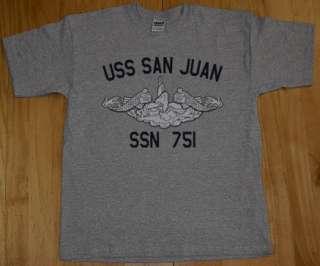 US Navy USS San Juan SSN 751 Submarine T Shirt