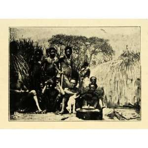 Print Bamba Congo Africa Indigenous Natives Cannibals Cultural Tribal