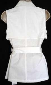 Womans MICHAEL KORS White Sleeveless Jacket/Vest XS M ($120)
