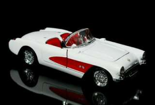 1957 Chevrolet Corvette SUPERIOR Diecast 124 Scale White/Red