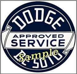 Dodge   DeSoto Service Stickers Vinyl Decal Sign