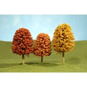 Bachmann Trains inches 4 inches Autumn Deciduous Trees 3