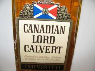 RARE EARLY CANADIAN 1960S LORD CALVERT WHISKY BOTTLE