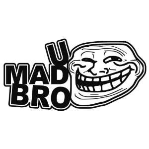 jdm stickers meaning on popscreen 2001 VW Jetta VR6 MPG u mad bro troll face you mad jdm vinyl decal sticker