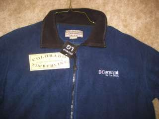 Mens or Womans Colorado Timberline Carnival Cruise Fleece Navy Jacket