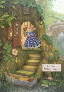 Holly Pond Hill Mouse Tree Boat Blessings New Home Card