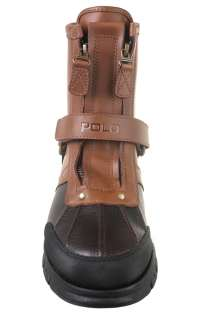 Polo by Ralph Lauren Mens Conquest Hi II Tan Briarwood Leather Boots