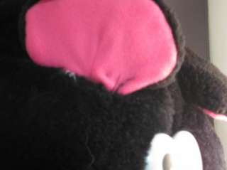 Cloud 9 Plush Black Hot Pink Pig Pot Bellied Huge Plush