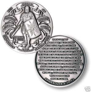 ARMOR OF GOD .999 SILVER CHALLENGE COIN