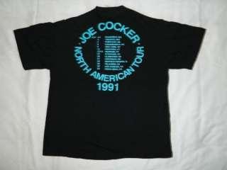 1991 JOE COCKER LIVE VINTAGE TOUR T SHIRT CONCERT 90s