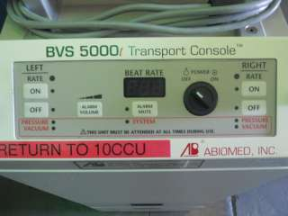 ABIOMed BVS 5000t BI VENTRICULAR Support Sys Perfusion