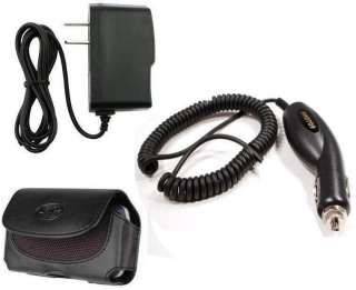 Vehicle Car+Home Charger+Leather Case Cover for Boost Mobile ZTE Warp