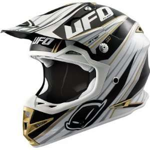 UFO WARRIOR H1 GRAPHIC MX DIRT MOTOCROSS HELMET BLACK LG