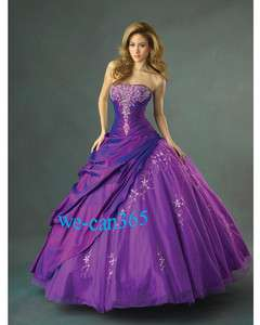 Storage SZ A line Strapless Purple wedding dress Bridal gown Prom