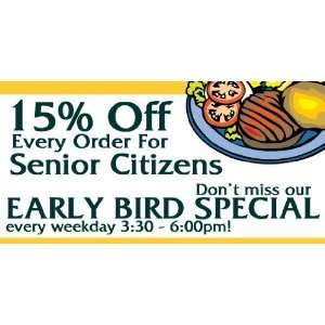 3x6 Vinyl Banner   Discount for Senior Citizens and Early